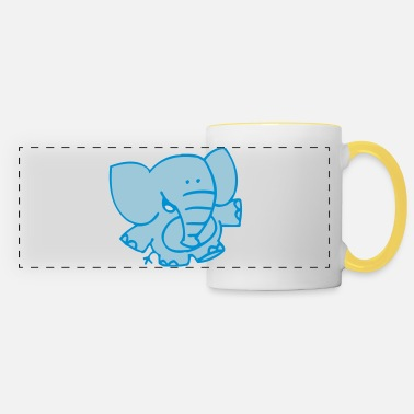 Little Elephant by Cheerful Madness!! - Panoramic Mug