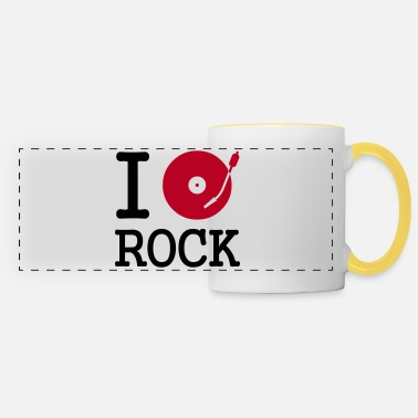 Dance I dj / play / listen to rock - Panoramic Mug