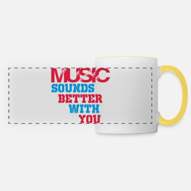 Rave music sounds better with you - Panoramic Mug
