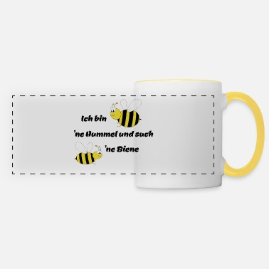 Bee Bumble bee and bee - Panoramic Mug