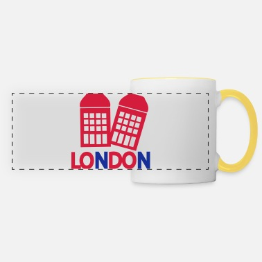 Red Phone Booth LONDON red Phone booth - Panoramic Mug