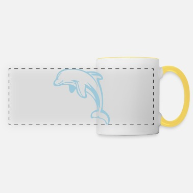 Dolphin Animal Sea - Panoramic Mug