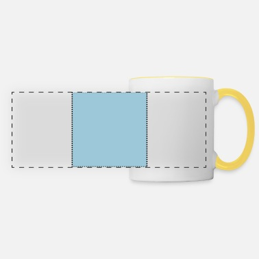 Textbox Quadrat gepunktet gefüllt - Panoramic Mug