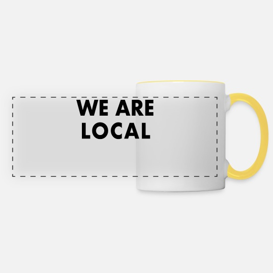League Mugs & Drinkware - We Are Local - Panoramic Mug white/yellow
