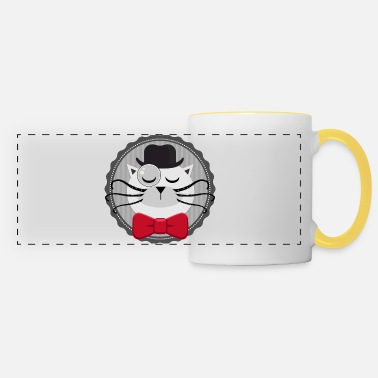 Chat vintage sherlock - Mug panoramique