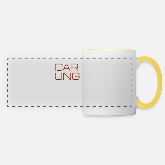 Love Mugs & Drinkware - Darling - Panoramic Mug white/yellow