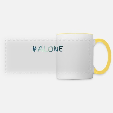 Alone alone alone solo solo #alone sad - Panoramic Mug