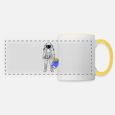 Astronaut Astronaut with astronaut cat - Panoramic Mug