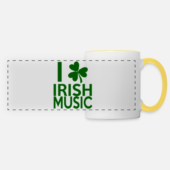 Irish Mugs & Drinkware - Irish Music - Panoramic Mug white/yellow