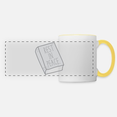 Rest In Peace Rest in peace on GREY BOOK - Panoramic Mug