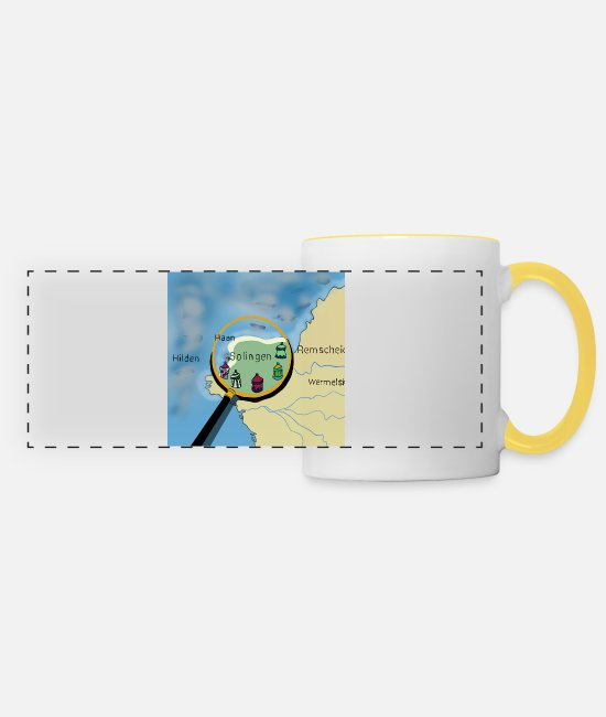 Solingen Mugs & Drinkware - Solingen - Panoramic Mug white/yellow