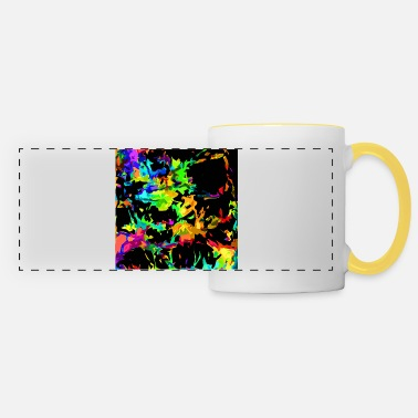 Colored flames - Panoramic Mug