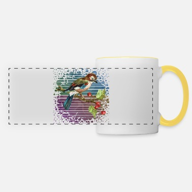 Landscape Colorful bird - Panoramic Mug
