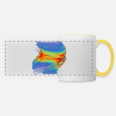 Painted Watercolor art graphics painting picture chaos 8596j - Panoramic Mug