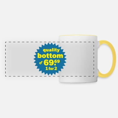 Saying Quality Bottom - Panoramic Mug