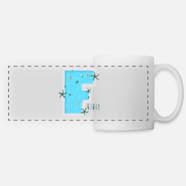 Breaststroke The F for Fun. When you think of swimming. - Panoramic Mug