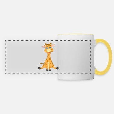 Baby giraffe is my favorite cuddly toy - Panoramic Mug