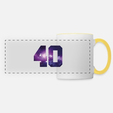 Number 40 number - Panoramic Mug