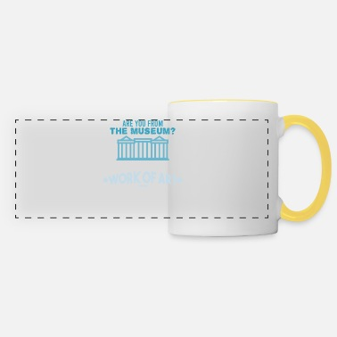 Research funny museum saying - Panoramic Mug