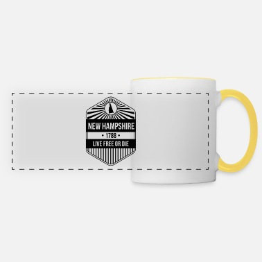 Free New Hampshire State Motto graphic - Live Free Or - Panoramic Mug