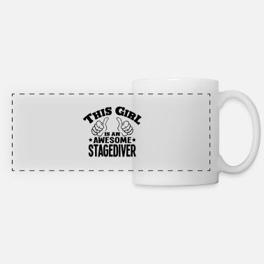 Stagediving this girl is an awesome stagediver - Panoramic Mug