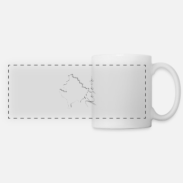 Kosovo Map - Shadow EN - Panoramic Mug