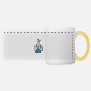House Keeper Electrician short circuiting - Panoramic Mug