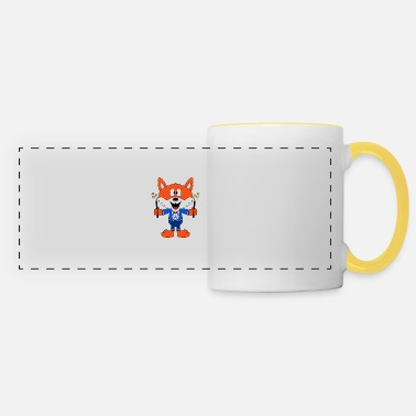 Fun Funny fox - magician - magician - magic - fun - Panoramic Mug