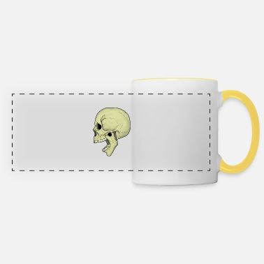Crier Screaming Skull3 couleur - Mug panoramique