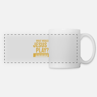 Rave What would jesus play Synthesizer Musiker Geschenk - Panoramatasse