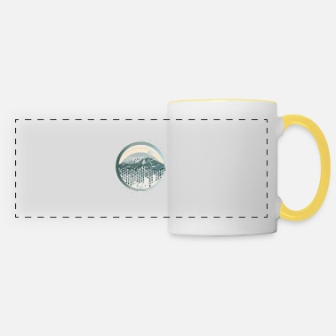 Kilimanjaro patch with graphic diamond pattern - Panoramic Mug