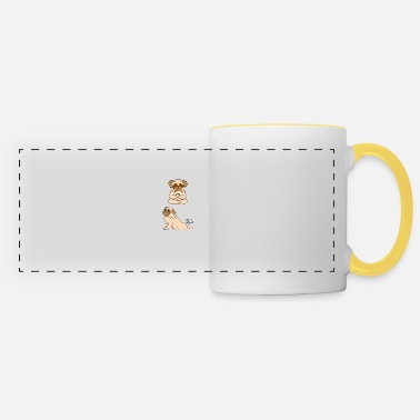 French Bulldog INHALE EXHALE Yoga - Panoramic Mug