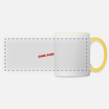 Over Game over - the game is over - Panoramic Mug