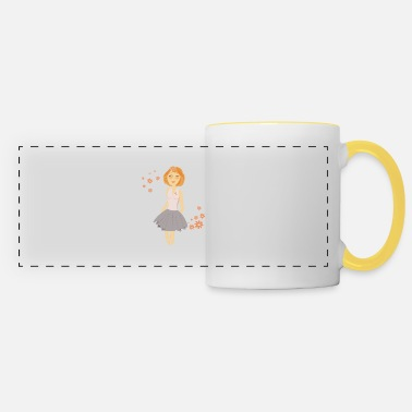 red-haired girl - Panoramic Mug