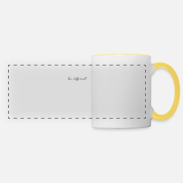 Be Different - special people deserve sweets - Panoramic Mug