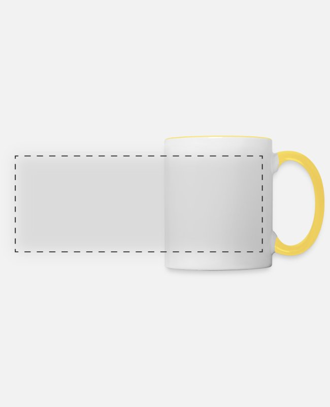 Offensive Mugs & Drinkware - Shower naked funny funny person gift - Panoramic Mug white/yellow