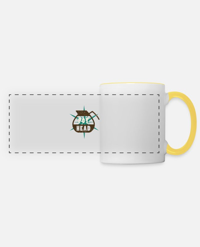 Barista Mugs & Drinkware - Pot Head - Barista - Panoramic Mug white/yellow