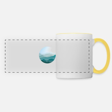 Landscape in cartoon style - landscape - Panoramic Mug