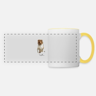 Long-haired Long-haired Herd Dog Collie rough long hair collie - Panoramic Mug
