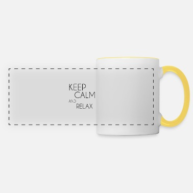 Keep Calm and relax - Panoramic Mug
