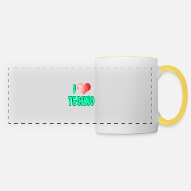 Party A Techno Tee For Music Lovers Saying I Love - Panoramic Mug