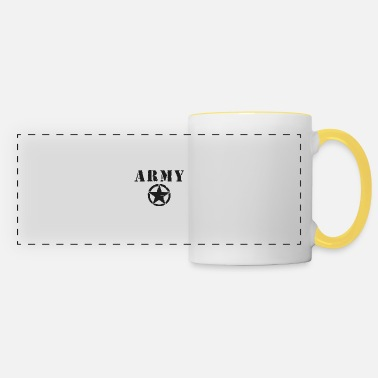 Rank Black Army Star - Panoramic Mug