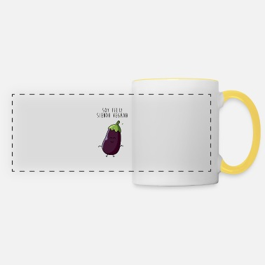I am happy being vegan - Panoramic Mug