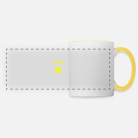 Lifeguard Mugs & Drinkware - Lifeguard - Panoramic Mug white/yellow