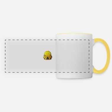 Hammer Imperial Fists Space Marine Helmet - Panoramic Mug