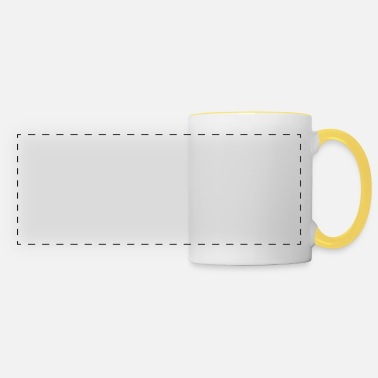 Look for the magic in everyday, Yoga, present - Panoramic Mug
