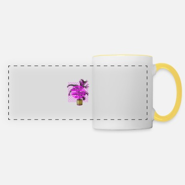 Plant Grounds Vaporwave Plant - Panoramic Mug