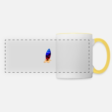Island Aloha surfboard Hawaii beach - Panoramic Mug