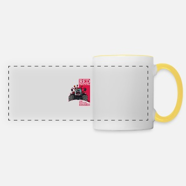 Red Red tractors are not for sissies - Panoramic Mug