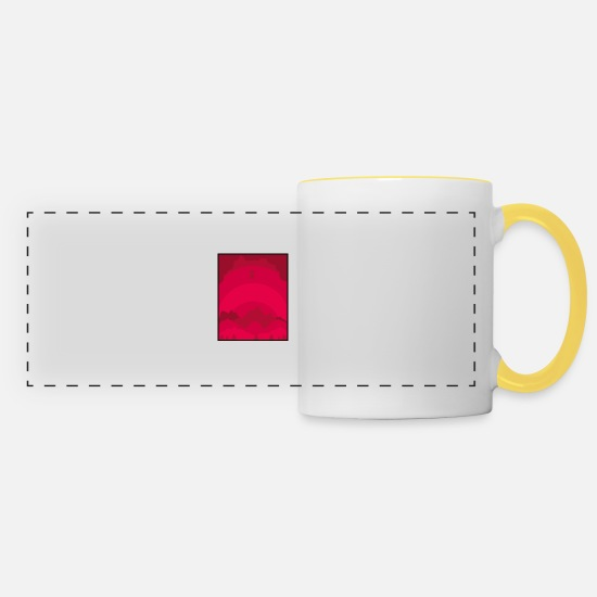 Love Mugs & Drinkware - Forest - Panoramic Mug white/yellow